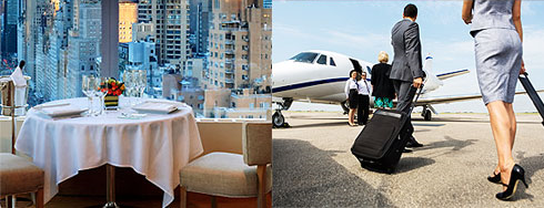 Corporate Lunch and Private Plane