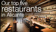 Our top five restaurants in the Alicante