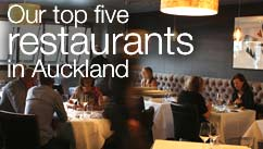 Our top five restaurants in the Auckland