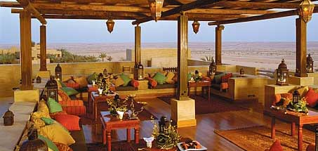 Open air lounge in the desert