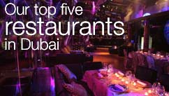 Our top five restaurants in the Dubai