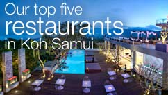 Our top five restaurants in the Koh Samui