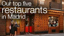 Our top five restaurants in the Madrid