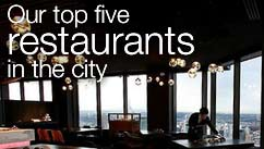 Our top five restaurants in the Melbourne