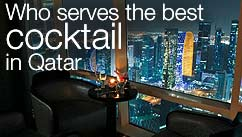 Who serves the best cocktail in Qatar?