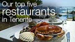 Our top five restaurants in the Tenerife