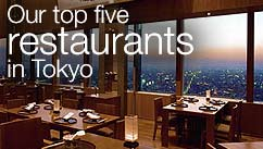 Our top five restaurants in the Tokyo