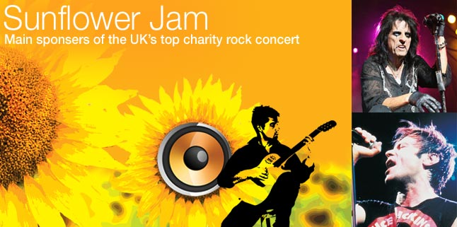 Sunflower Jam rock concert at the Royal Albert Hall