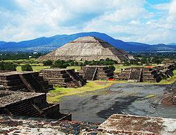 Guadalupe Shrine And Teotihuacan Pyramid