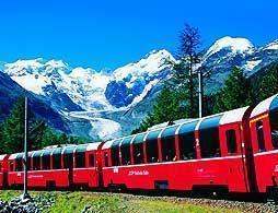 Full Day Bernina Train St Moritz from Milan