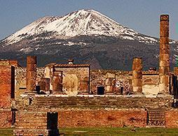 Pompeii and Vesuvius from Naples