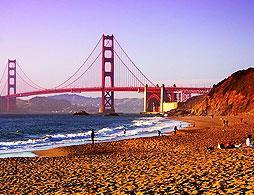 San Francisco Bridge and the Beach