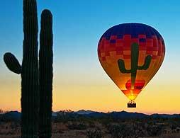 Sonoran desert hot air balloon tour
