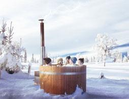 Traditional Finnish Sauna, Snow Sauna & Outdoor Jacuzzi